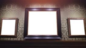 Cadre de tableau dans le musée Images libres de droits