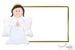 Cadre de tableau de communion d'ange d'enfant premier Photographie stock libre de droits
