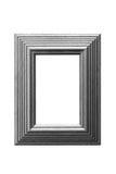 Cadre de tableau de lame d'or à fond gris Images libres de droits