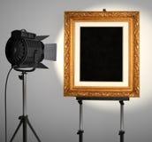 Cadre de tableau de Spotlit Images libres de droits