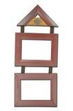 Cadre de tableau en bois Photographie stock