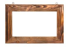 Cadre de tableau en bois Images libres de droits