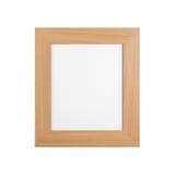 Cadre de tableau en bois classique avec la toile vide d'isolement sur le blanc image stock