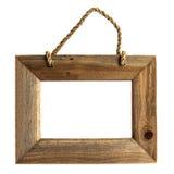 Cadre de tableau en bois - d'isolement. Photo stock