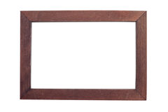 Cadre de tableau en bois d'isolement sur le blanc Photo libre de droits