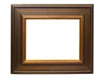 Cadre de tableau en bois foncé avec le chemin Images stock