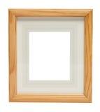 Cadre de tableau en bois mignon (avec le chemin de découpage) Images stock