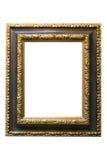 Cadre de tableau en bois plaqué par or Images stock