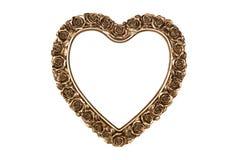 Cadre de tableau en bronze de coeur Photographie stock libre de droits