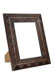 Cadre de tableau en bronze vide décoratif Images stock