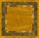 Cadre de tableau en cuir grunge Photo libre de droits
