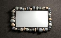 Cadre de tableau en pierre s'arrêtant Photographie stock