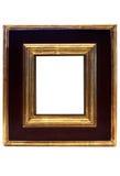 Cadre de tableau encadré par or avec le chemin Photos stock