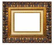 Cadre de tableau et fond blanc photographie stock libre de droits