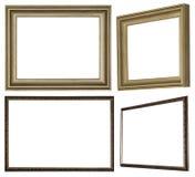 Cadre de tableau fait de bois profilé peint avec la peinture illustration stock