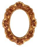 Cadre de tableau fleuri antique d'or Photo libre de droits
