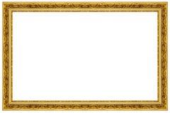 Cadre de tableau fleuri d'or photo libre de droits