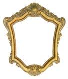 cadre de tableau fleuri d'or images stock