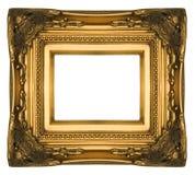 Cadre de tableau fleuri d'or de cru Photo libre de droits