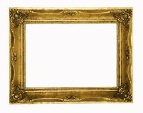 Cadre de tableau fleuri d'or de cru Photos libres de droits