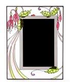 Cadre de tableau fleuri en verre souillé photographie stock libre de droits