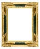 Cadre de tableau fleuri poussiéreux de vieil or photographie stock libre de droits