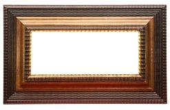 Cadre de tableau large de Brown avec le chemin Images libres de droits