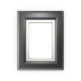 Cadre de tableau noir d'isolement sur le blanc Photos libres de droits