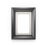 Cadre de tableau noir d'isolement sur le blanc Photo libre de droits