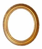 Cadre de tableau ovale d'or Photographie stock libre de droits