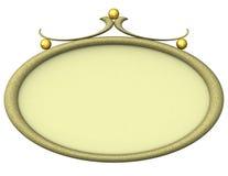 Cadre de tableau ovale vide 3d Photographie stock libre de droits