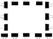 Cadre de tableau par l'agrafe de noir de pli avec la ligne carrée à l'intérieur Photographie stock libre de droits