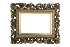 Cadre de tableau plaqué par or Photographie stock