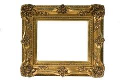 Cadre de tableau plaqué par or Photos stock