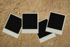 Cadre de tableau polaroïd Photographie stock