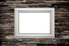 Cadre de tableau sur le mur de granit Photographie stock libre de droits