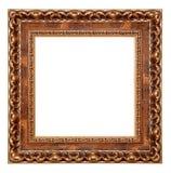 Cadre de tableau vide d'isolement images stock
