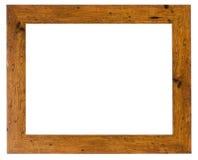 Cadre de tableau vide dans un bâti en bois de grain image libre de droits