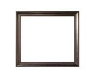 Cadre de tableau vide en bois ornementé d'isolement sur le fond blanc Images stock