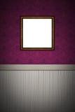 Cadre de tableau vide sur le mur décoré Images libres de droits