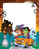 Cadre 5 de thème de Halloween illustration stock