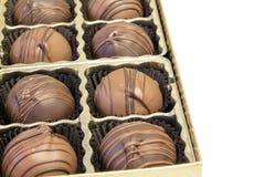Cadre de truffes de chocolat Photo libre de droits