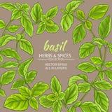 Cadre de vecteur de Basil Photographie stock