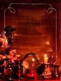 Cadre de Veille de la toussaint avec la bille en cristal Image libre de droits