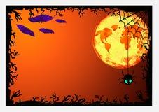 Cadre de Veille de la toussaint pour la conception Photo libre de droits