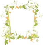 Cadre de verts et de bruns d'automne illustration libre de droits