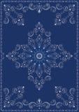 Cadre de vintage avec l'ornement de luxe bleu Images stock