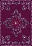 Cadre de vintage avec l'ornement de luxe violet Image libre de droits