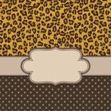 Cadre de vintage avec la texture de léopard Image stock