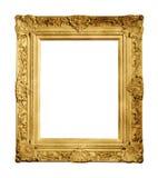 Cadre de vintage d'or d'isolement image libre de droits